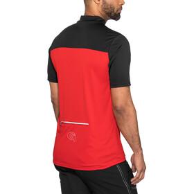 Gonso Ebro Fietsshirt korte mouwen Heren rood/zwart
